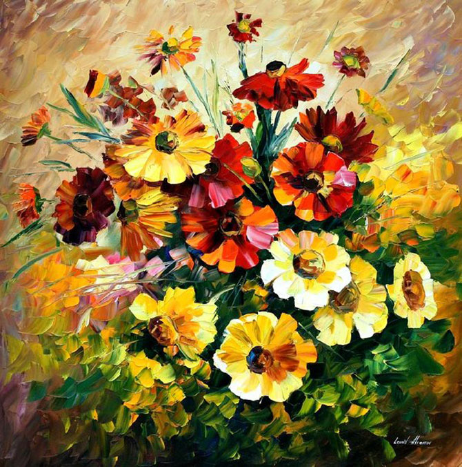 Amazing Flower Paintings By Leonid Afremov Lavagirl24